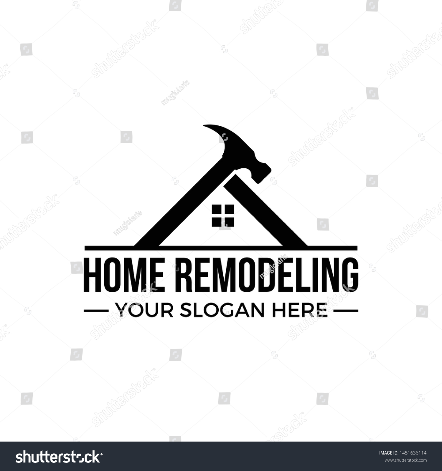 Home Remodeling Home Renovation Logo Template Stock Vector