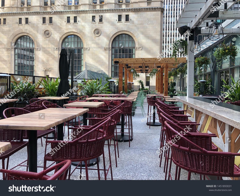 Street Side Patio Restaurant Bar Cafe Stock Photo Edit Now 1451893031