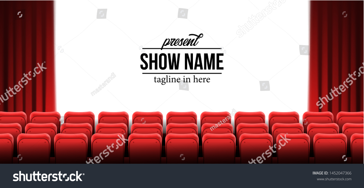 Present Show Name Template Red Empty Stock Vector Royalty Free 1452047366