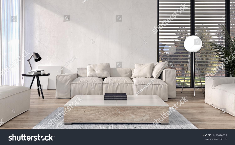 Modern Interior Design Living Room Italian Stock Illustration 1452096878