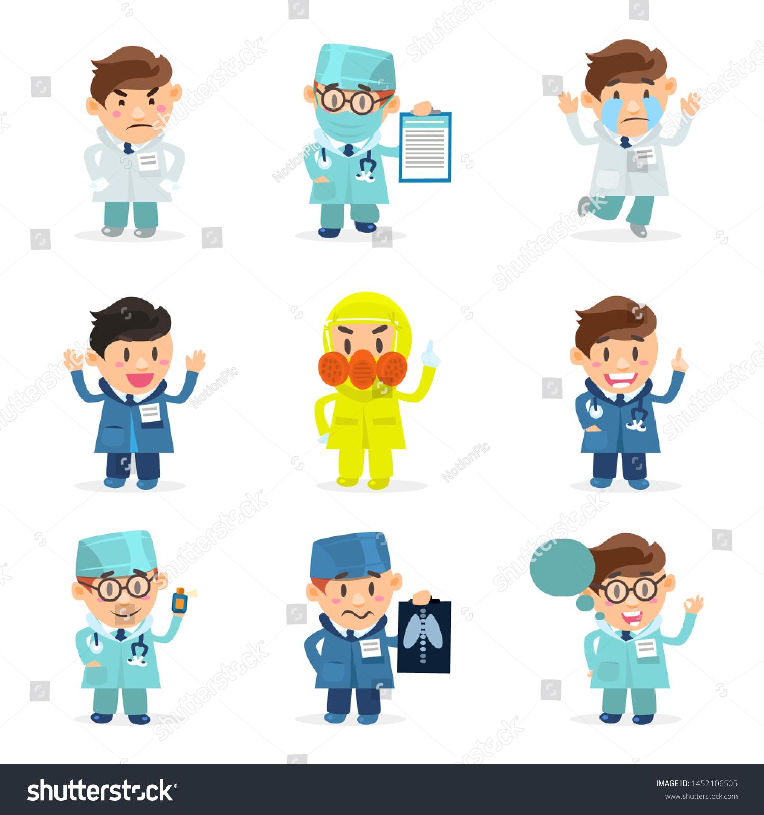 Funny Cartoon Hospital Pics funny doctors characters set hospital medical | royalty-free