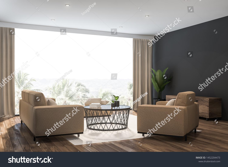 Corner Stylish Living Room Gray Walls | Objects, Interiors ...