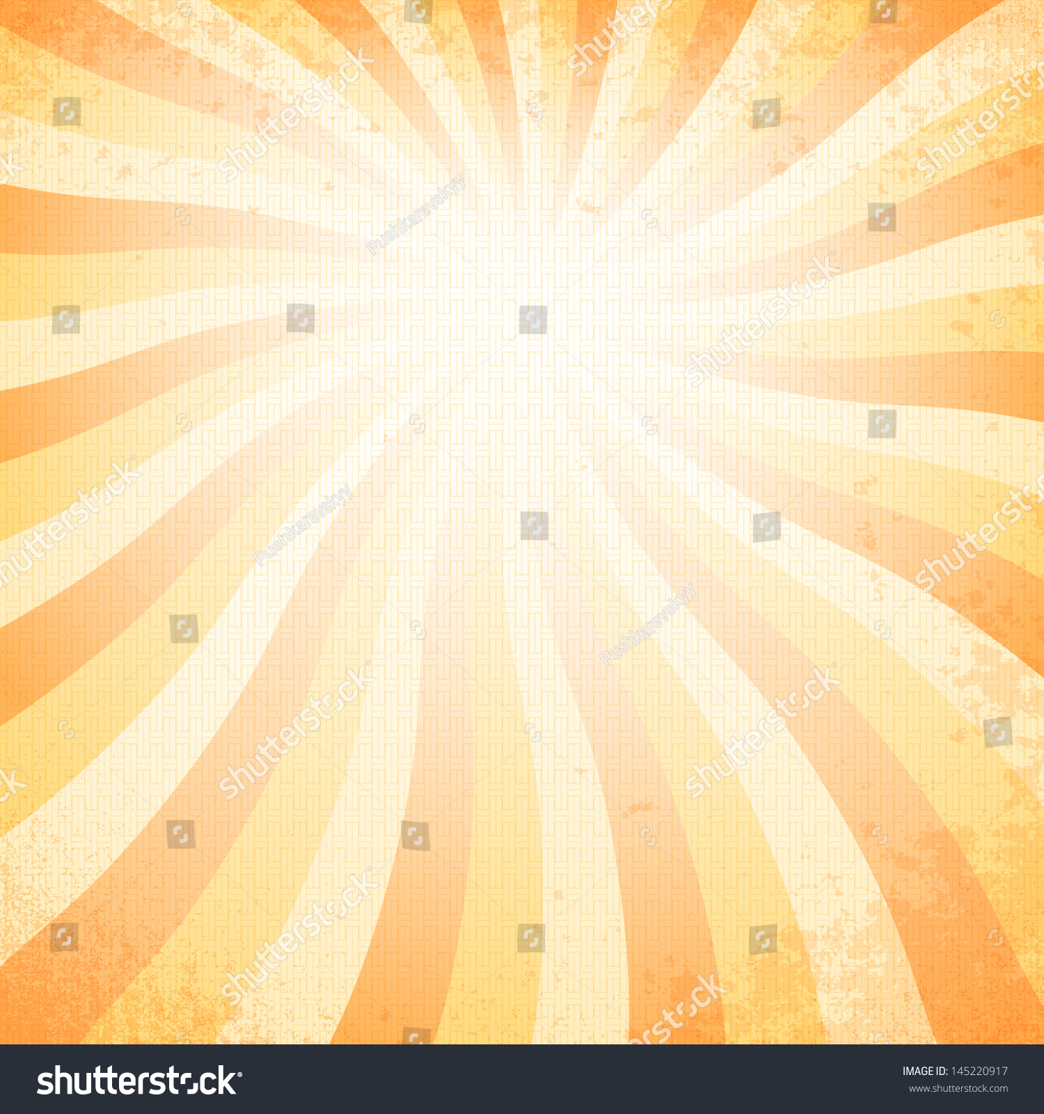 Vintage Sunset Background Stock Vector 145220917