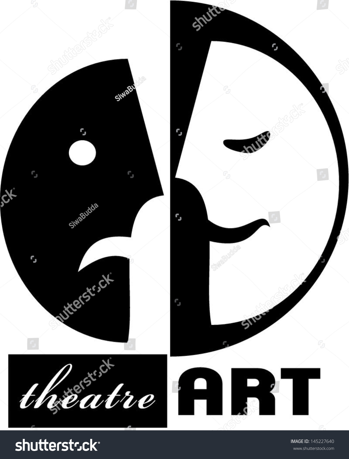 Theater Poster Template In Simple Classic Style With Happy And Sad Mask Presents Inner Conflict