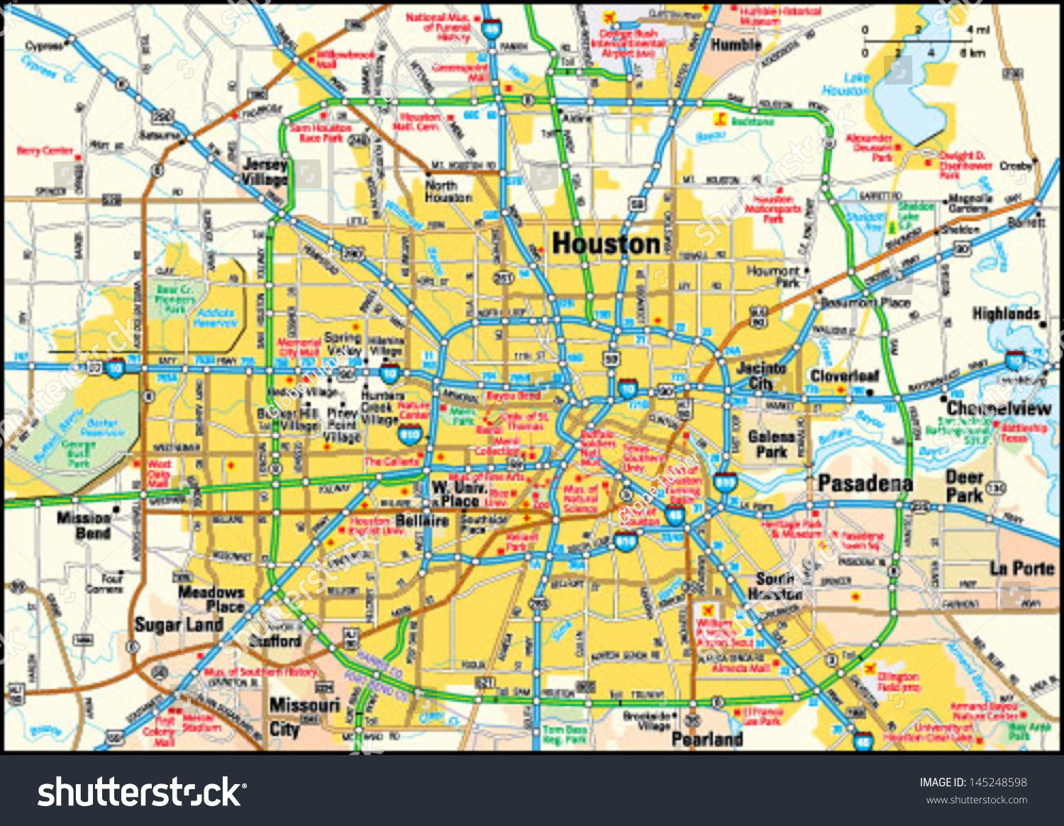 Houston Map Usa Map Guide 2016