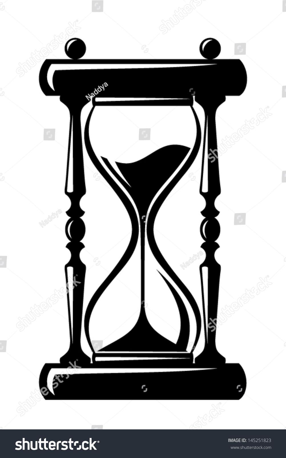 Hourglass vector black silhouette stock vector 145251823 hourglass vector black silhouette biocorpaavc Images