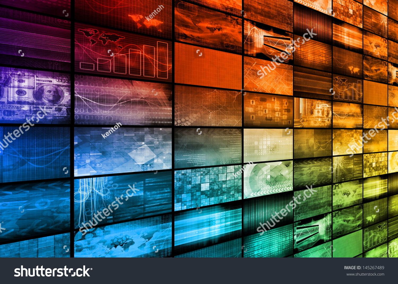 Multimedia Technology Background Art Concept Stock ...