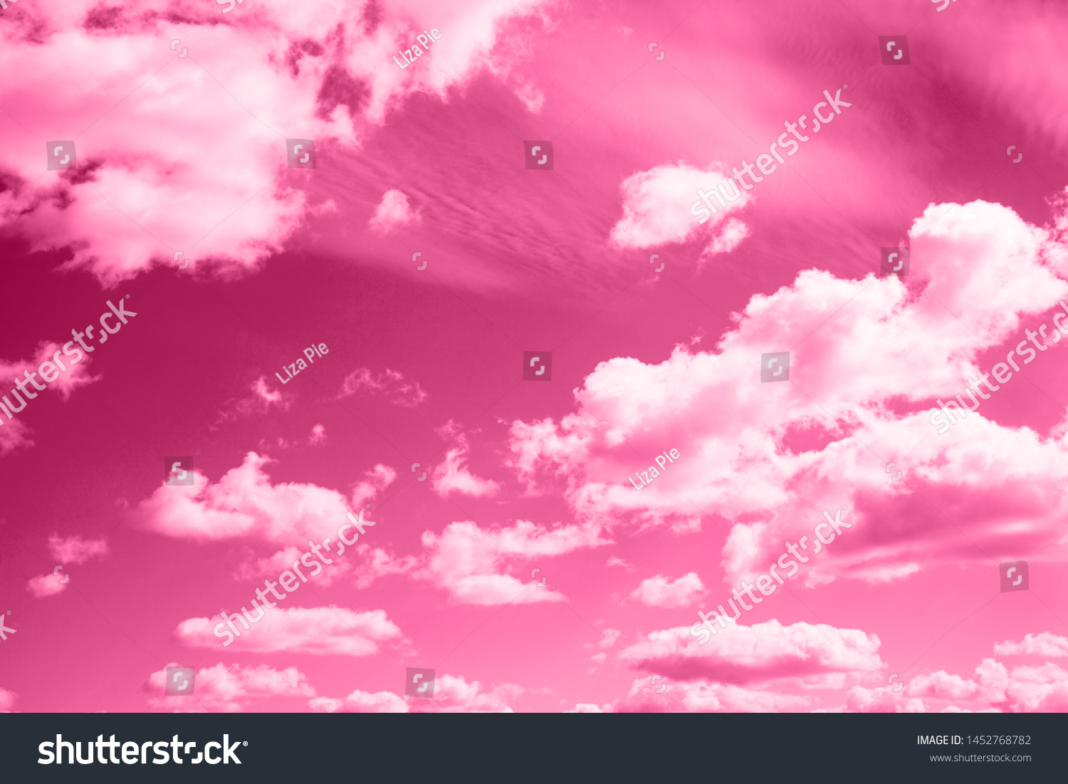 Sky Clouds Painted Trendy Shade Pink Stock Photo Edit Now 1452768782