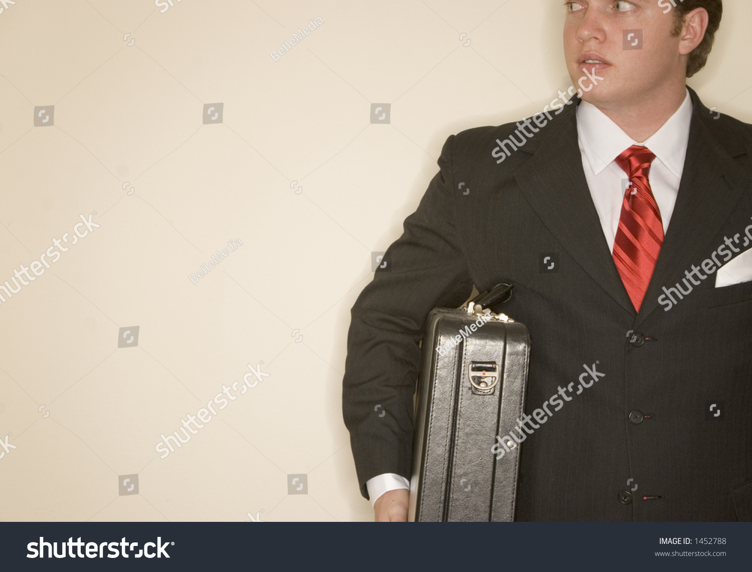 Business Man Black Suit White Shirt Stock Photo 1452788 - Shutterstock