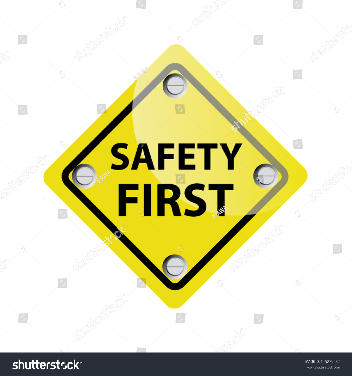 Safety First Symbol Vector Stock Vector Royalty Free 145279282