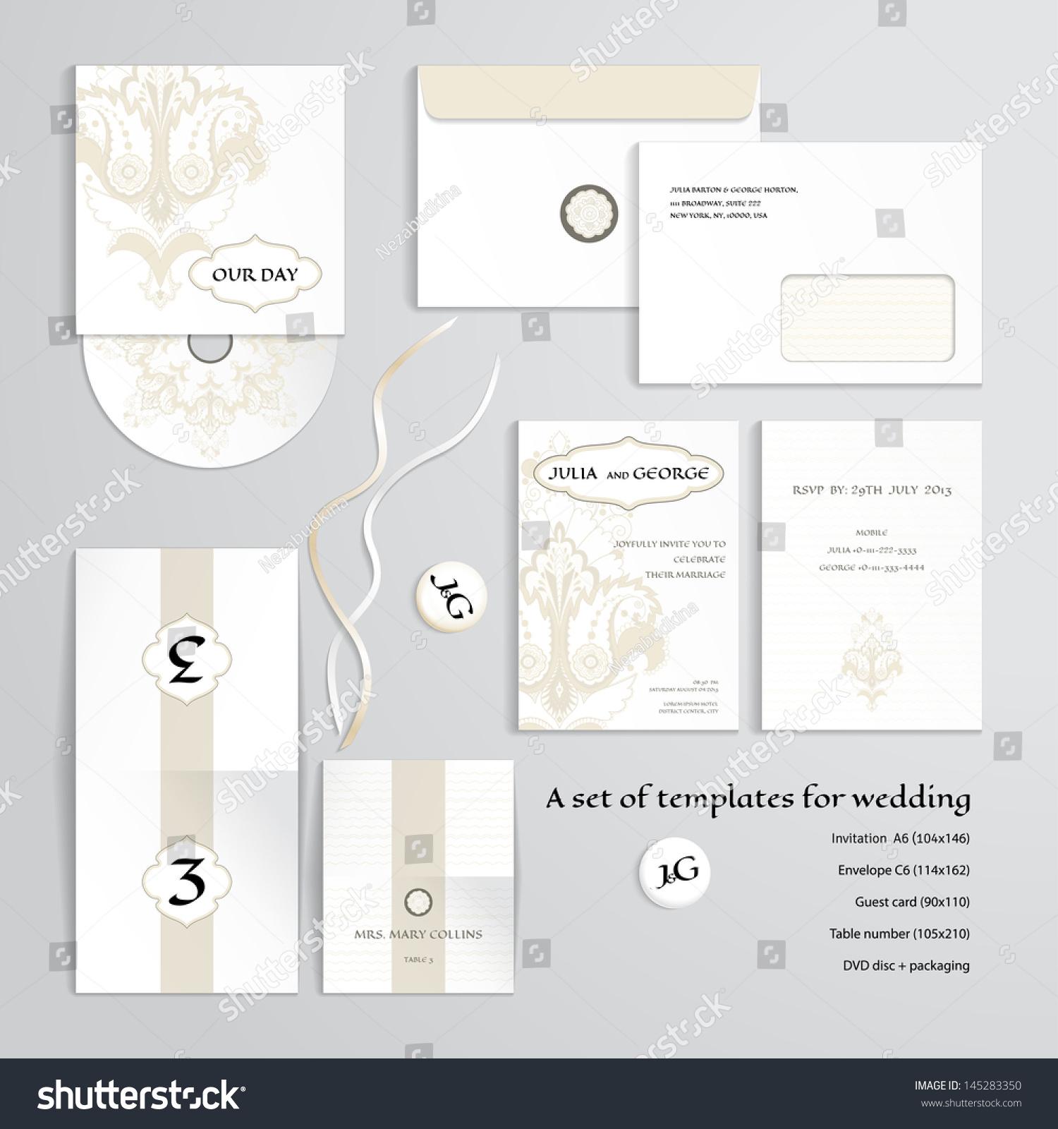 Vector Templates Design Wedding Oriental Floral Stock Vector