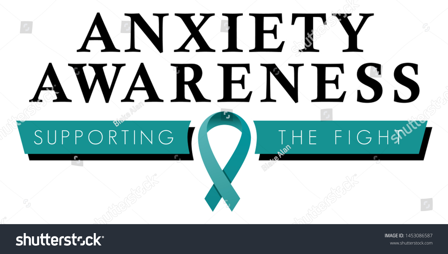 Anxiety Disorder Awareness Logo Symbol Promote Stock Vector Royalty Free 1453086587