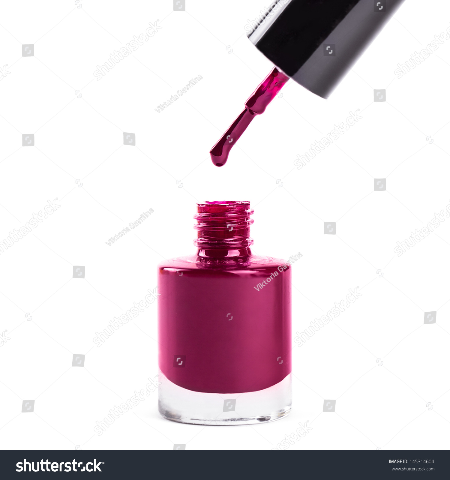 Dark Pink Nail Polish Isolated On Stock Photo 145314604 - Shutterstock