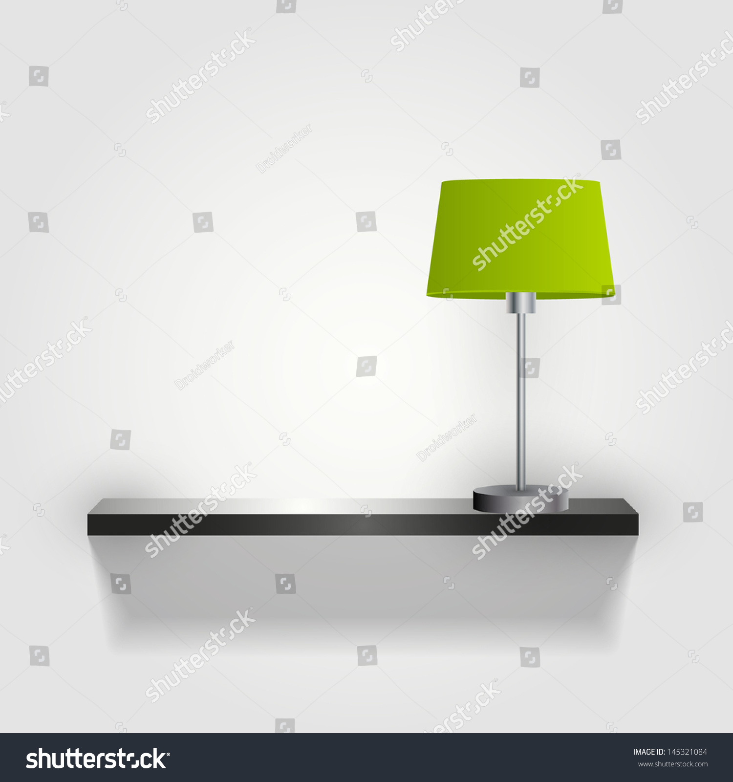 Wall Lamps Vector : Wall With Lamp Green Lamp /Vector/ Minimal - 145321084 : Shutterstock