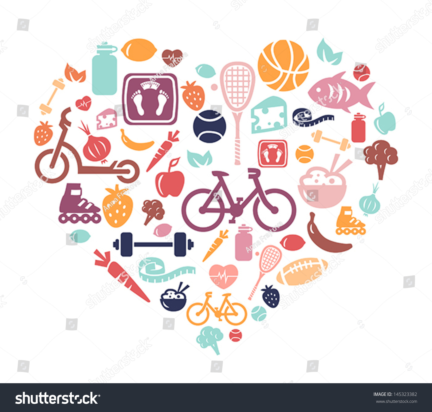 Lifestyl: Healthy Lifestyle Background Stock Vector 145323382