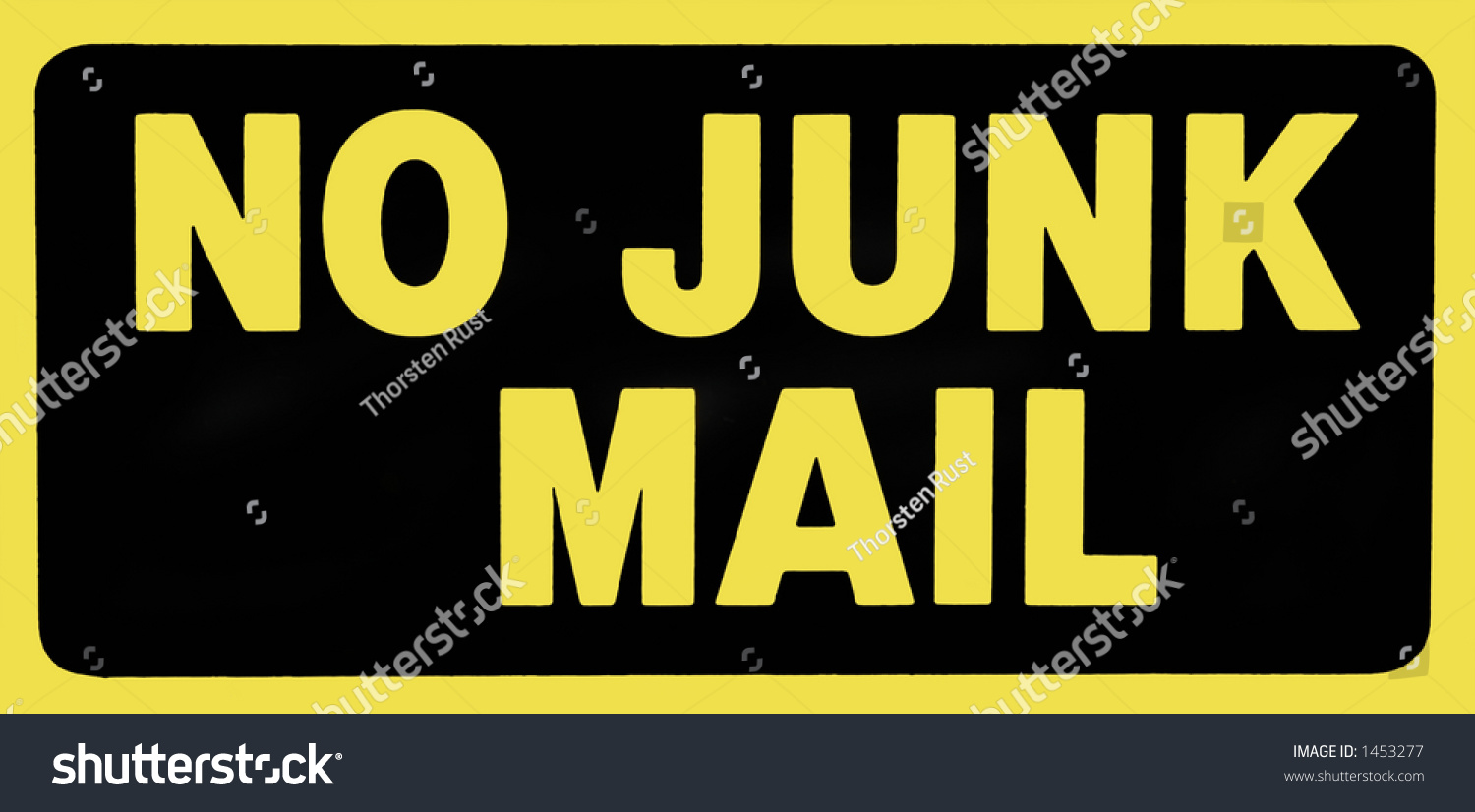 No Junk Mail Sign Stock Photo 1453277 : Shutterstock