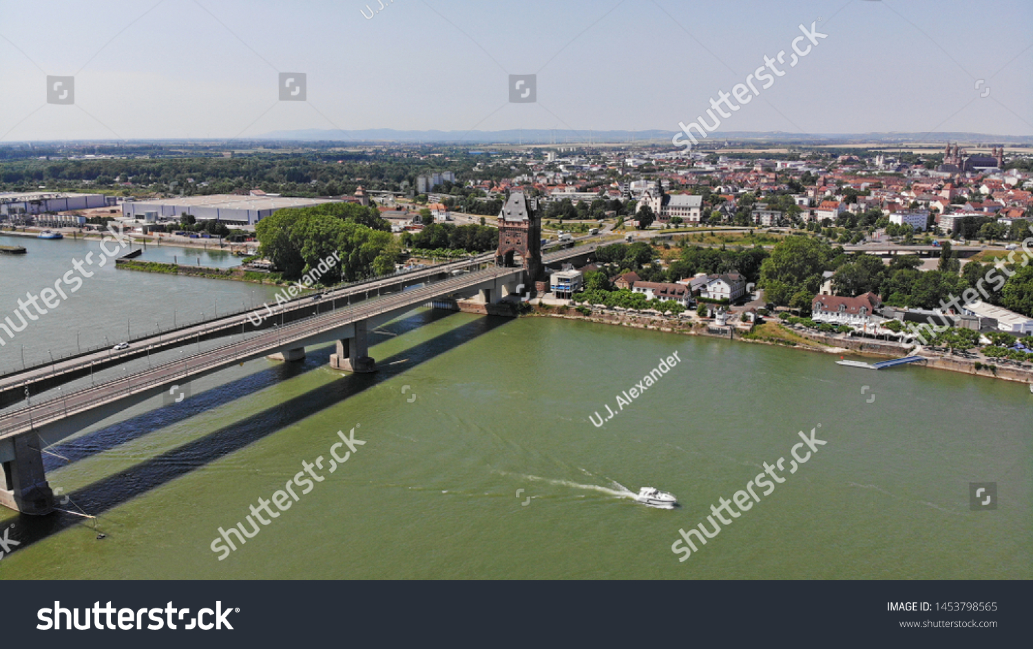 Aerial view of Worms, Rhineland-Palatinate, Germany #1453798565