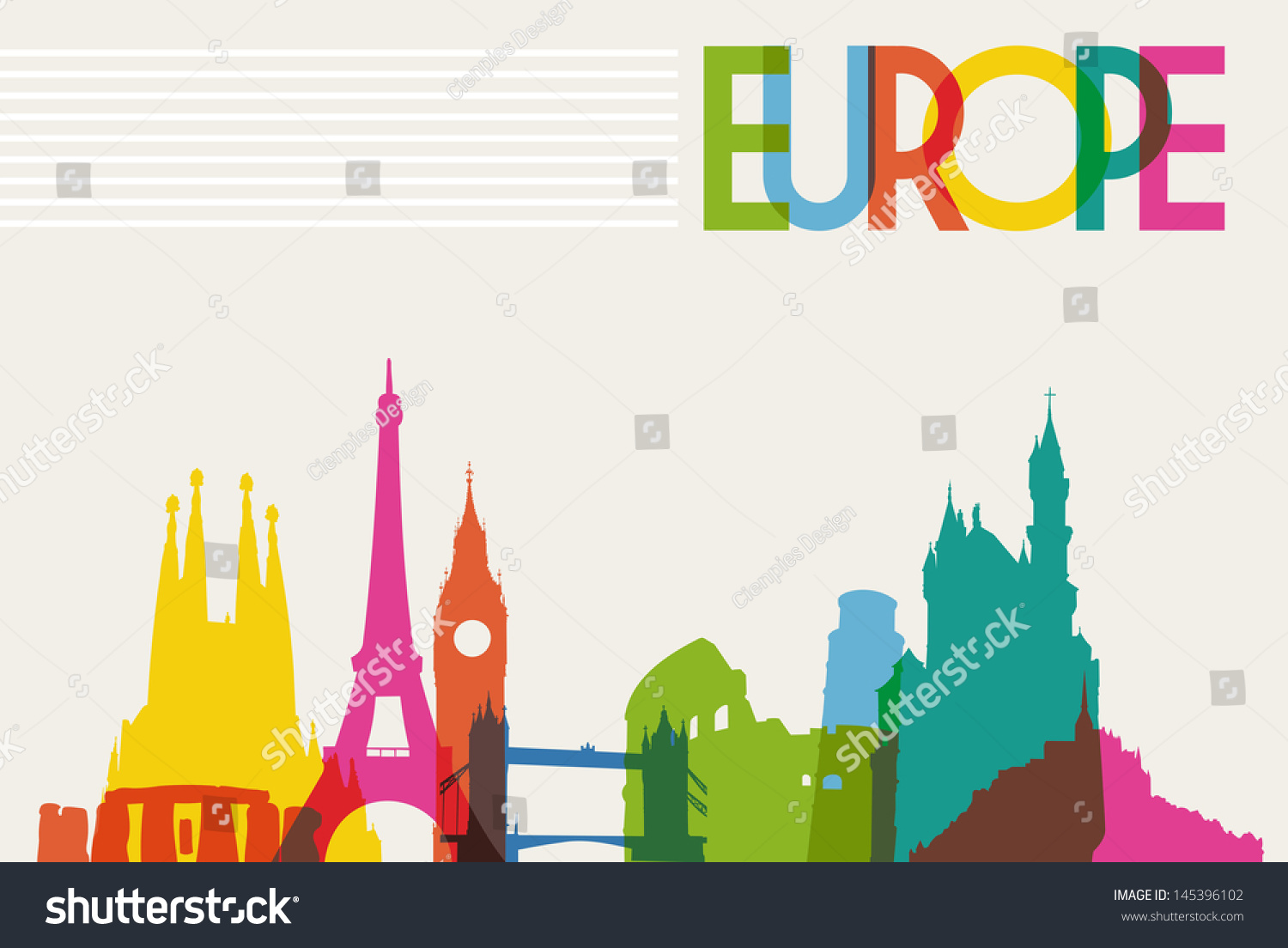 vector illustration of europe - photo #21