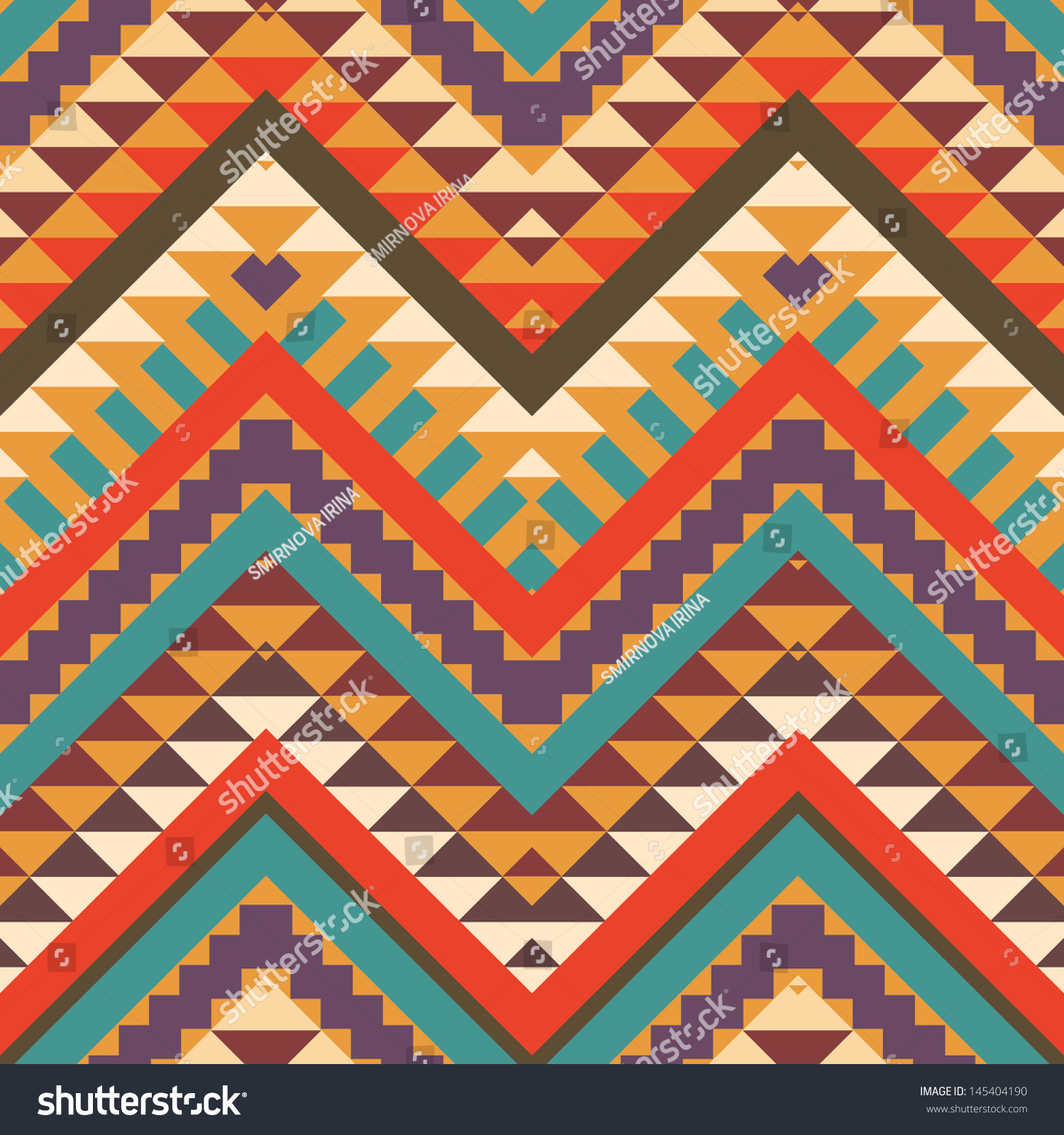 Seamless Colorful Aztec Pattern Stock Vector 145404190 ...