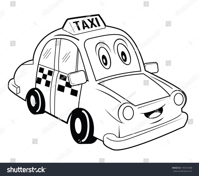 Cartoon funny snail coloring book stock vector 232624141 - Taxi Cartoon Stock Illustration 145415308 Shutterstock