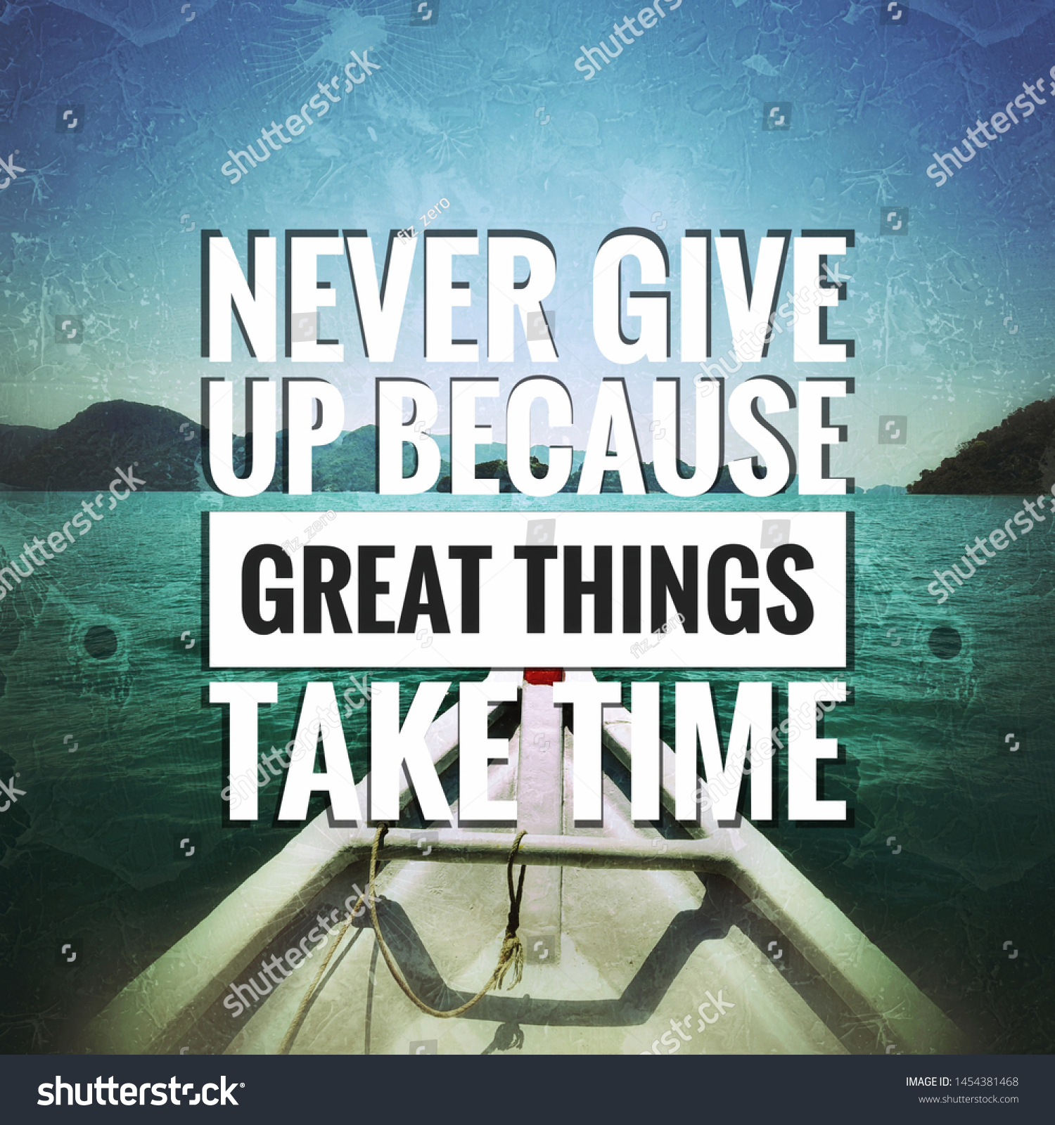 inspirational motivational quotes life success never stock photo