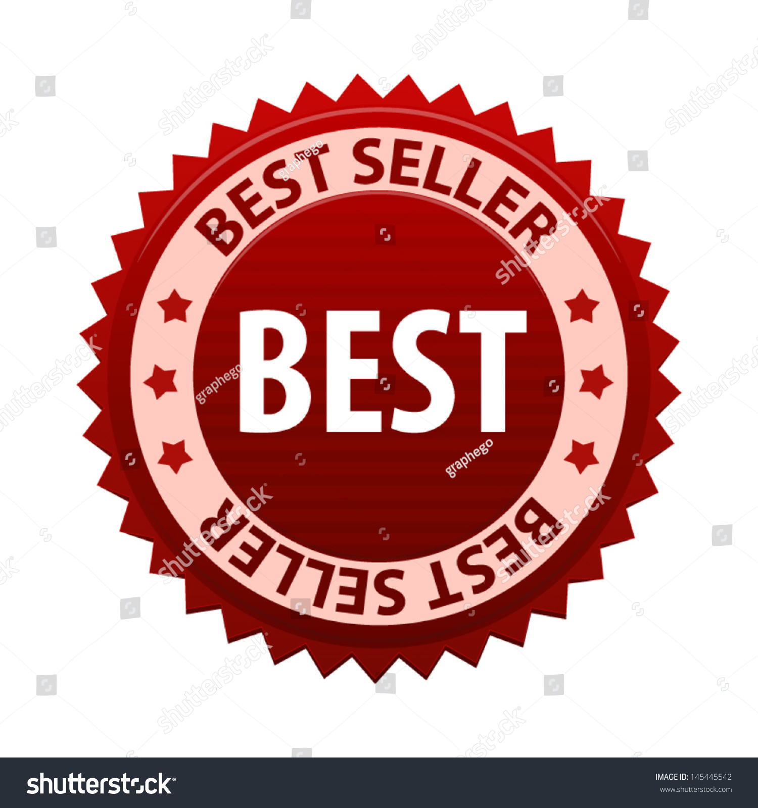 Red label text best seller icon 145445542 shutterstock for Best seller