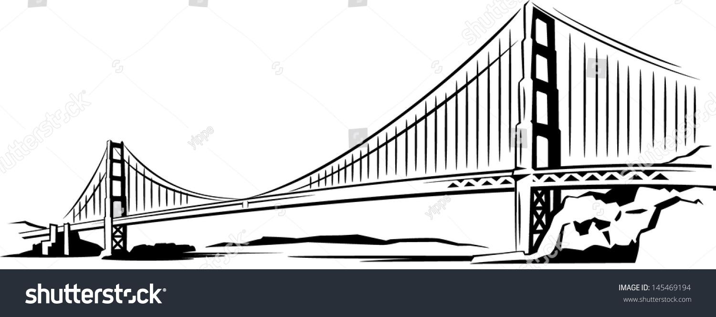 Bay Bridge Stock Vector 145469194 Shutterstock