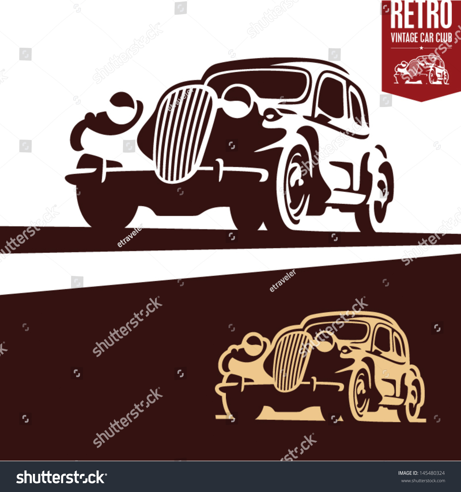 Значка для ретро автомобили 2