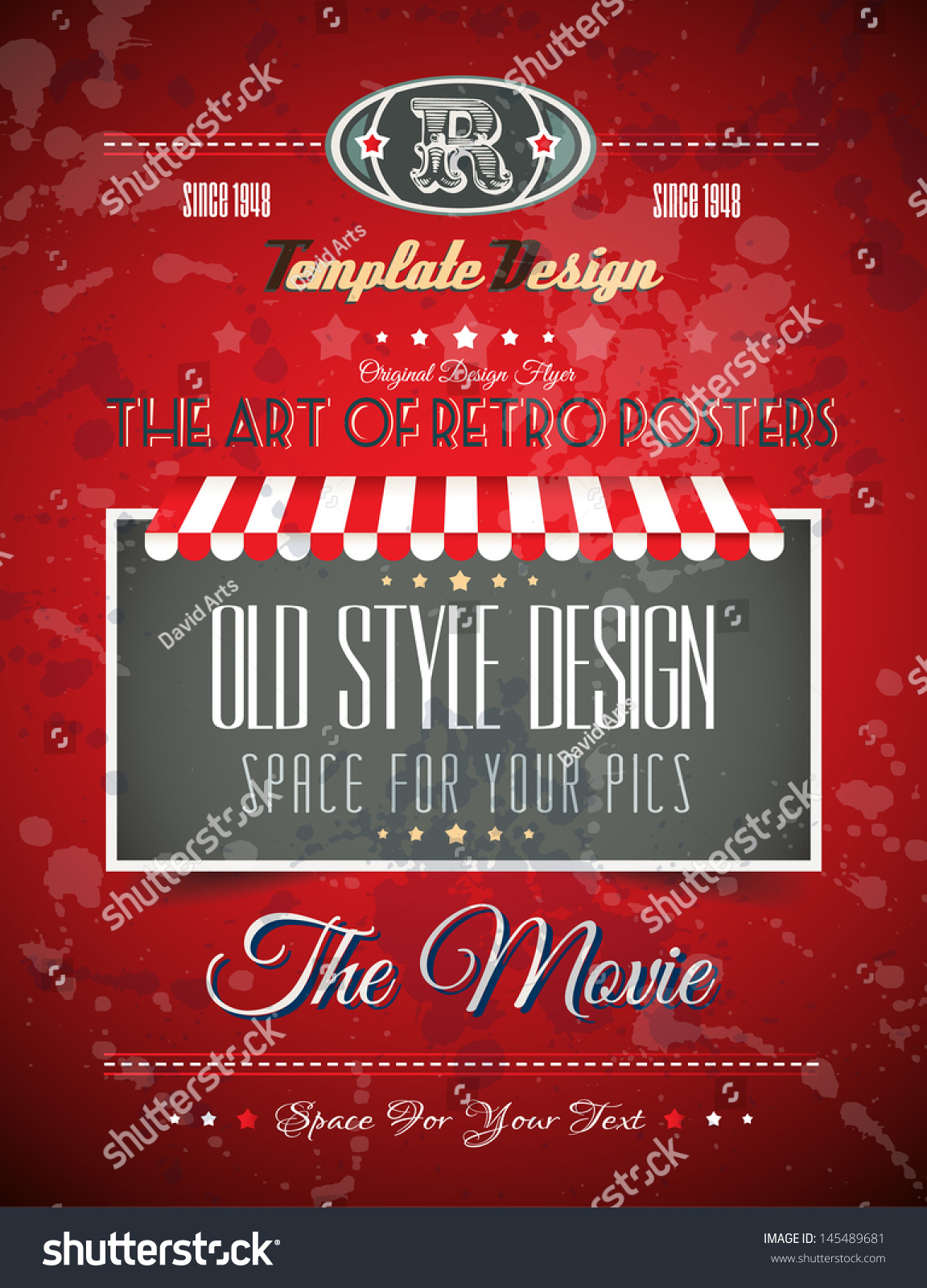 vintage retro page template for a variety of purposes website home