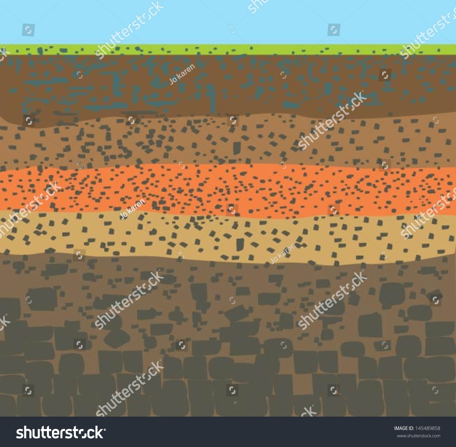 Form soil layersits colour textures stock vector 145489858 for Why the soil forms layers in water
