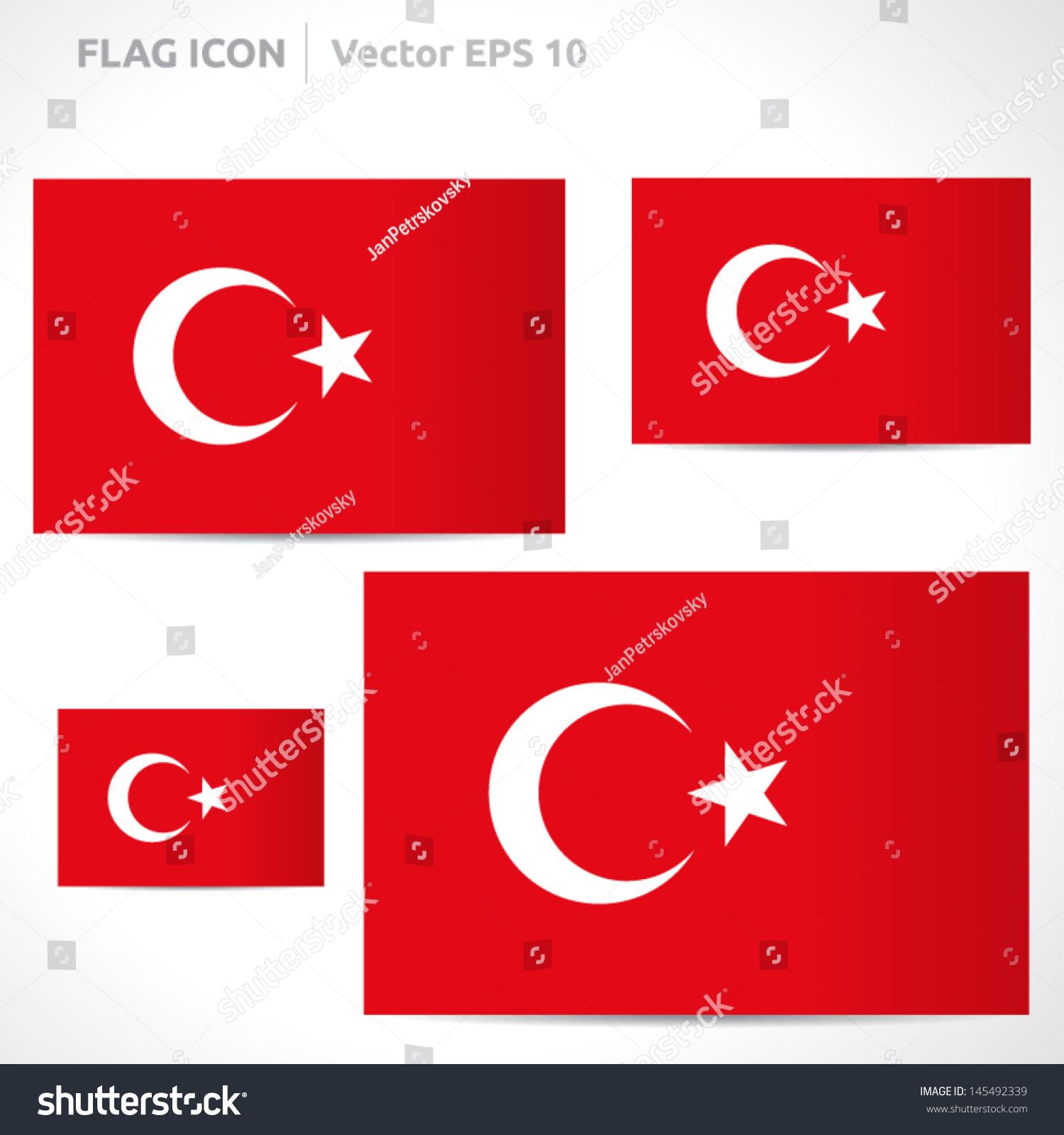 Turkey Flag Template Vector Symbol Design Stock Vector Royalty Free