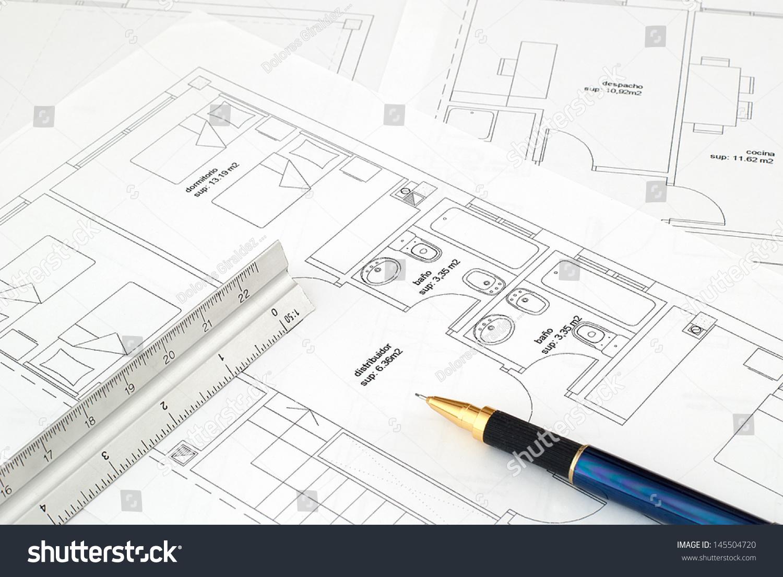 Architects workspace tools penrulerscale blueprint stock for Blueprint scale