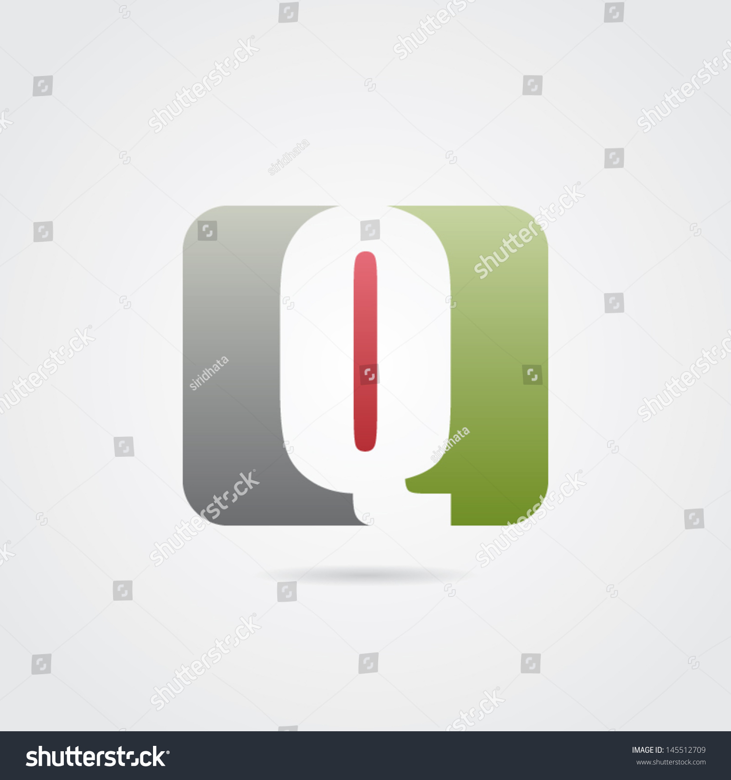 stock vector abstract letter q icon 145512709
