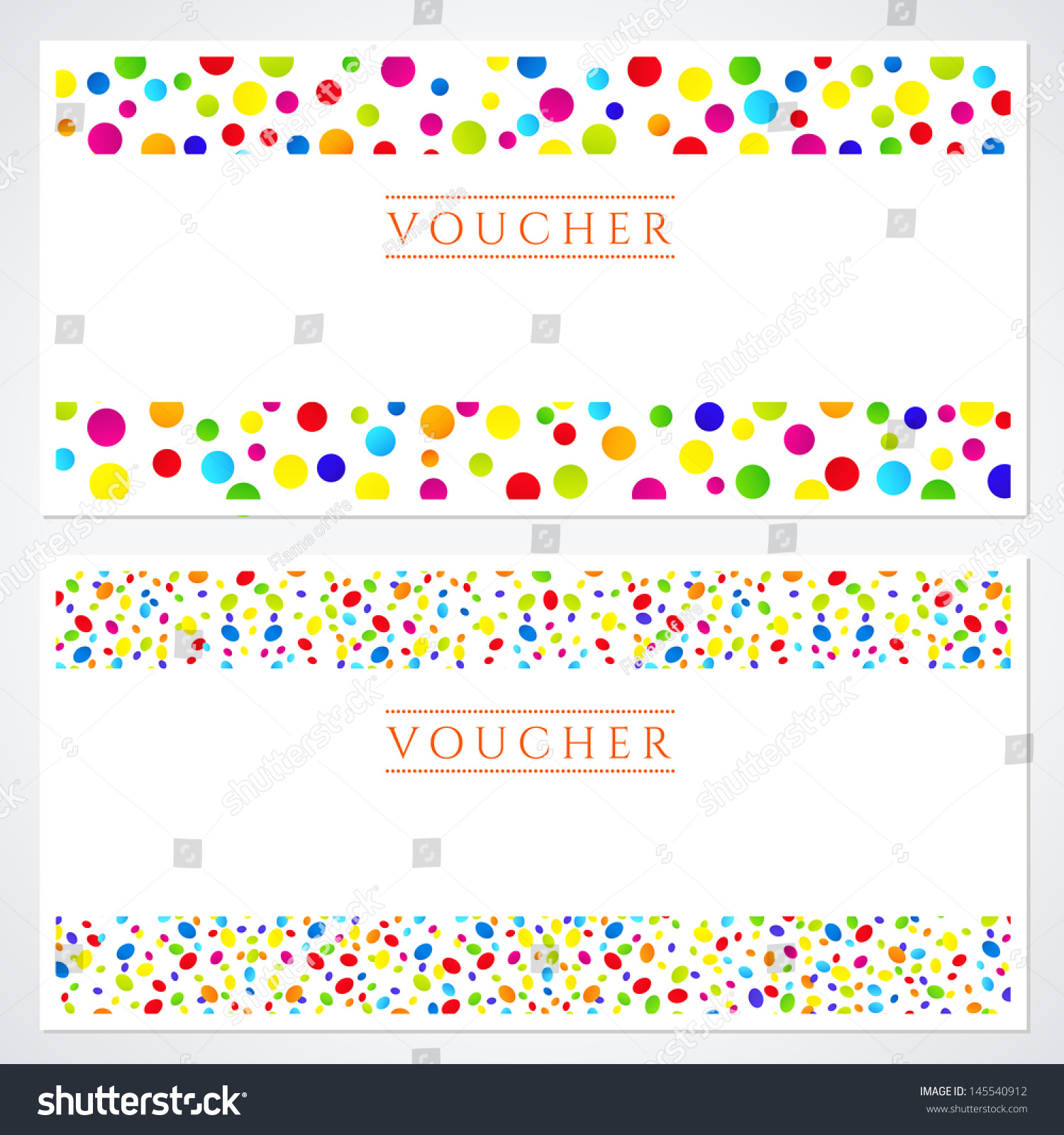 Voucher gift certificate template colorful bright stock voucher gift certificate template with colorful bright rainbow circles xflitez Choice Image