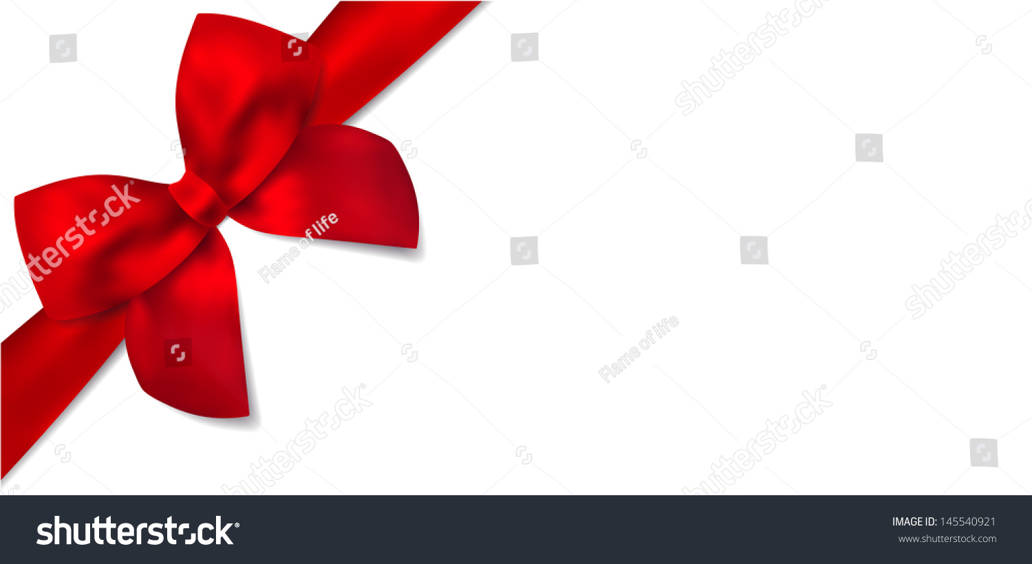 Gift Certificate Isolated Gift Red Bow Stock Illustration ...