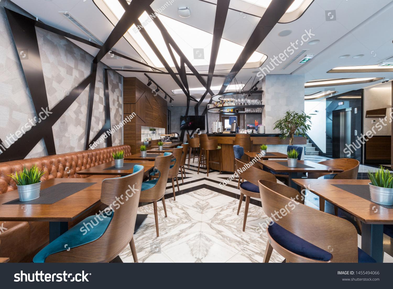 Interior Modern Hotel Lounge Cafe Bar Stock Photo Edit Now 1455494066