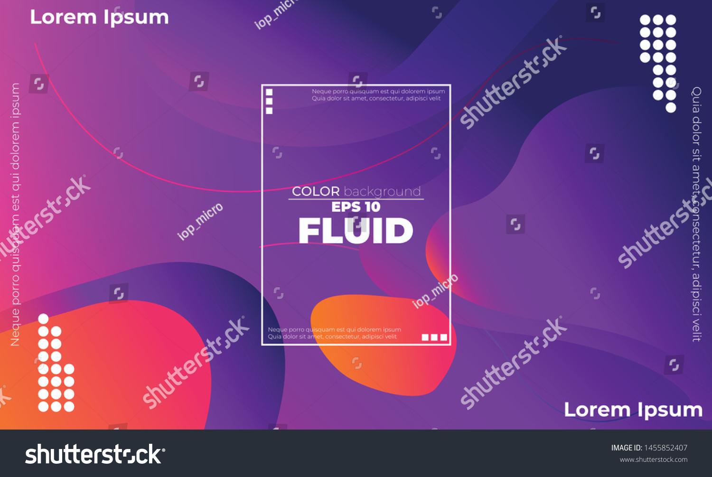 Creative Geometric Wallpaper Trendy Fluid Flow Stock Vector