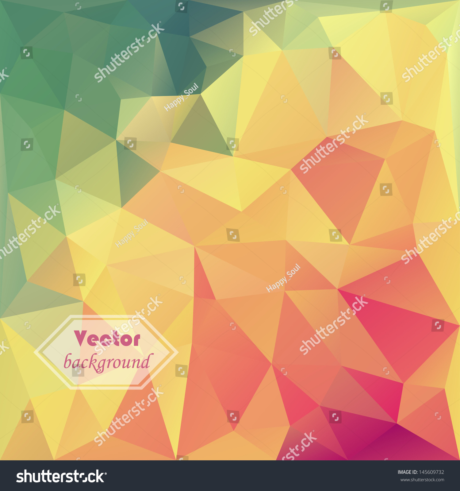 Geometric triangle tiled mosaic pattern background