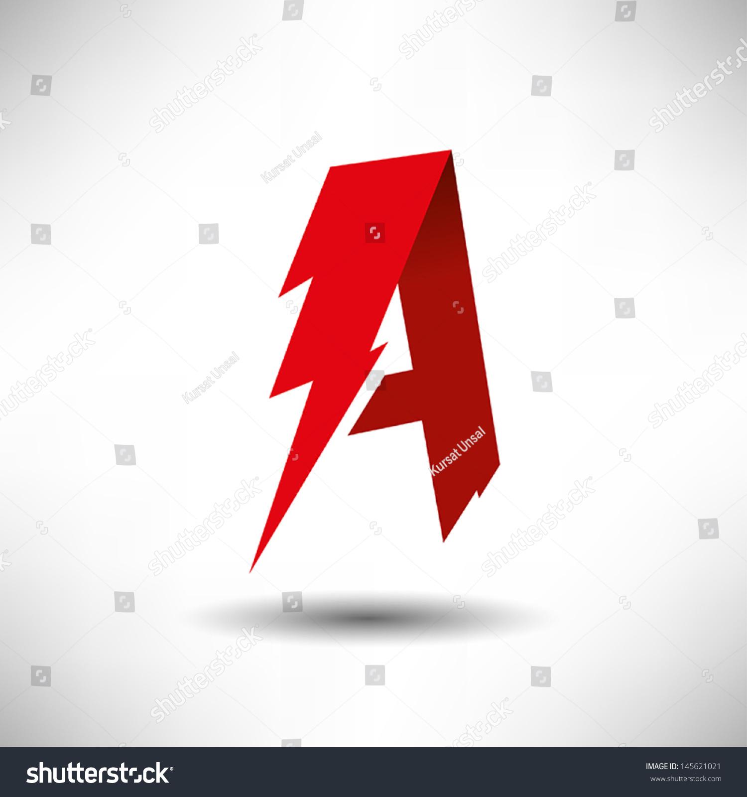 vector lightning bolt letter symbol stock vector 145621021