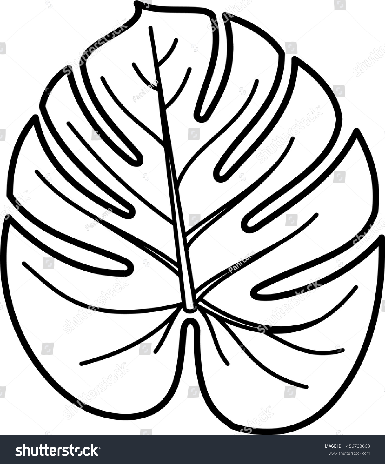 Tropical Leaf Icon Outline Style Coloring Stock Vector Royalty Free 1456703663 Planning on having a tropical wedding? https www shutterstock com image vector tropical leaf icon outline style coloring 1456703663
