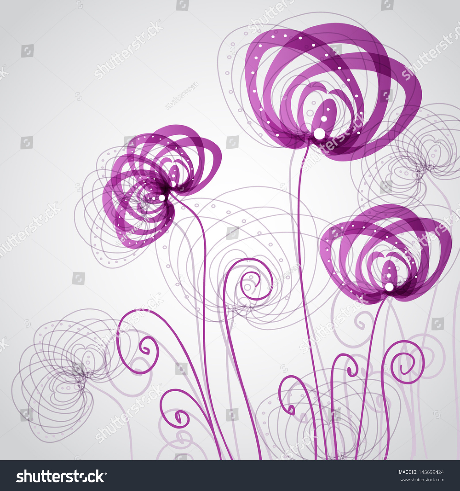 Abstract violet flowers corner floral background stock vector 2018 abstract violet flowers corner floral background for scrapbooking paper textile web mightylinksfo