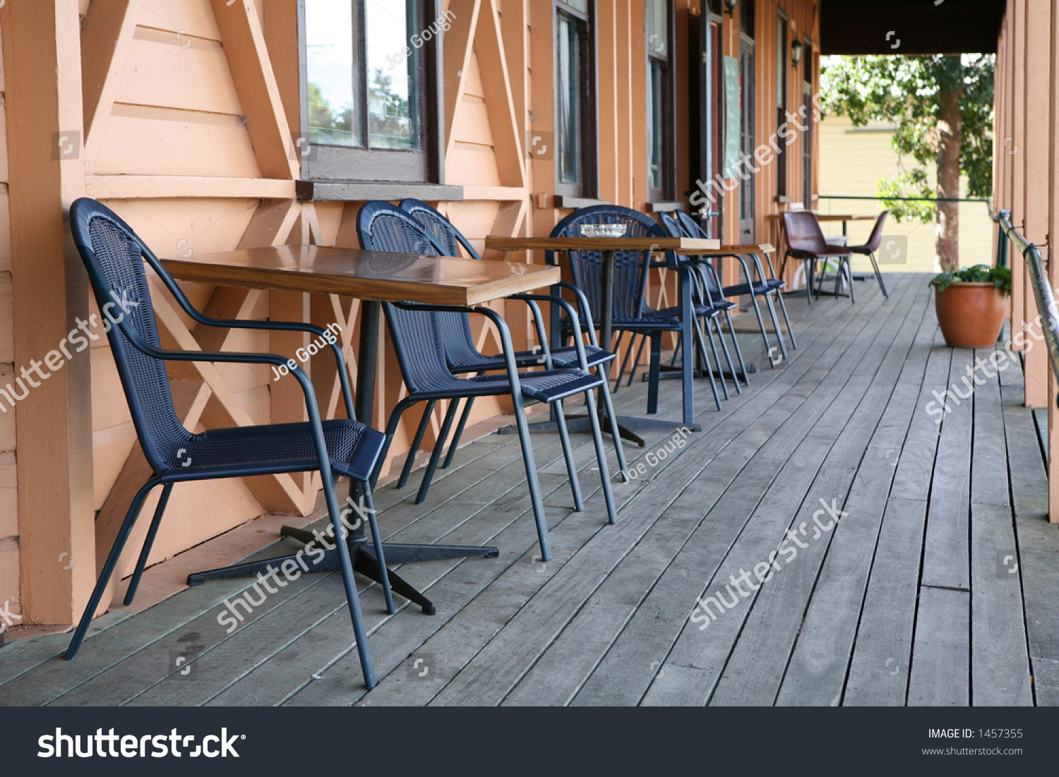 retro bar veranda stock photo 1457355 shutterstock. Black Bedroom Furniture Sets. Home Design Ideas