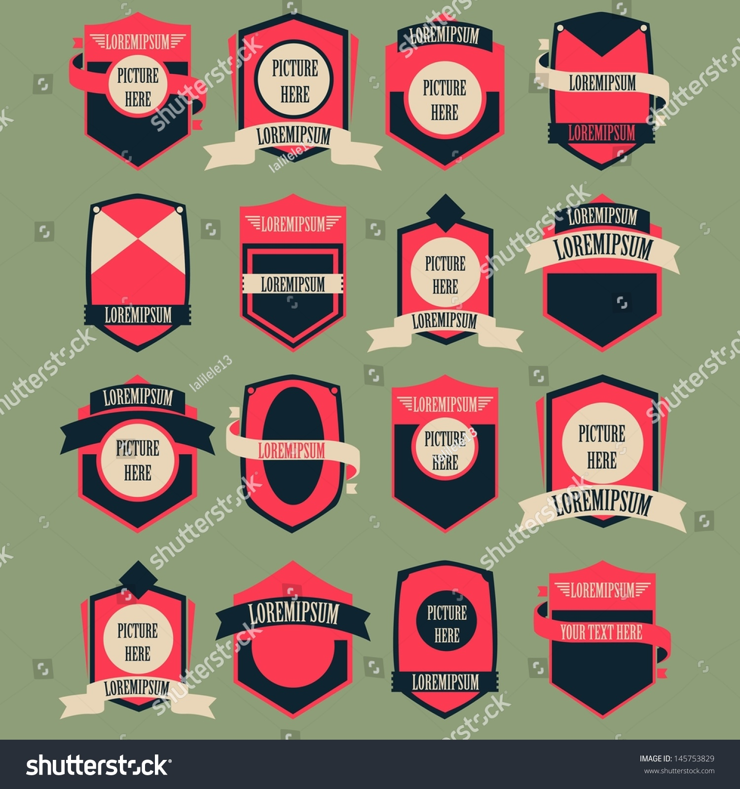 Vintage Logo Vector Set Stock Vector 145753829 - Shutterstock