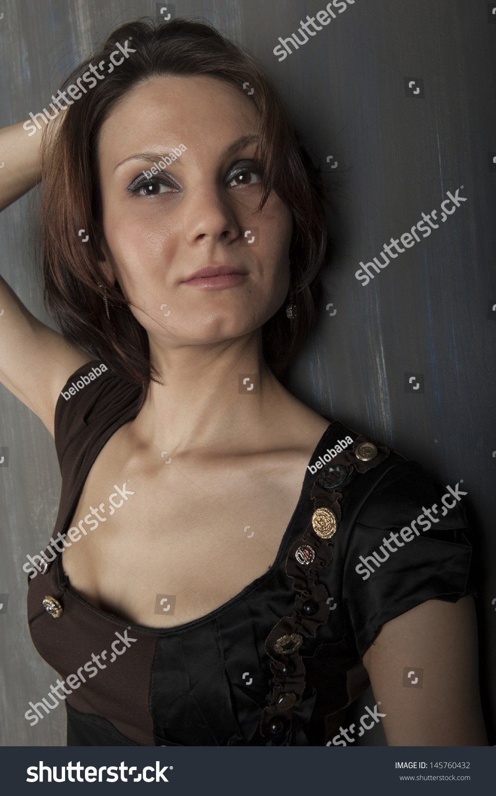 Portrait Young Woman Cute Short Haircut Stock Photo Edit Now