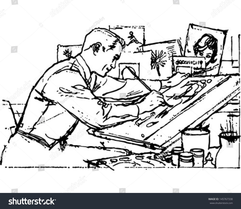 illustrator work retro clip art illustration stock vector royalty