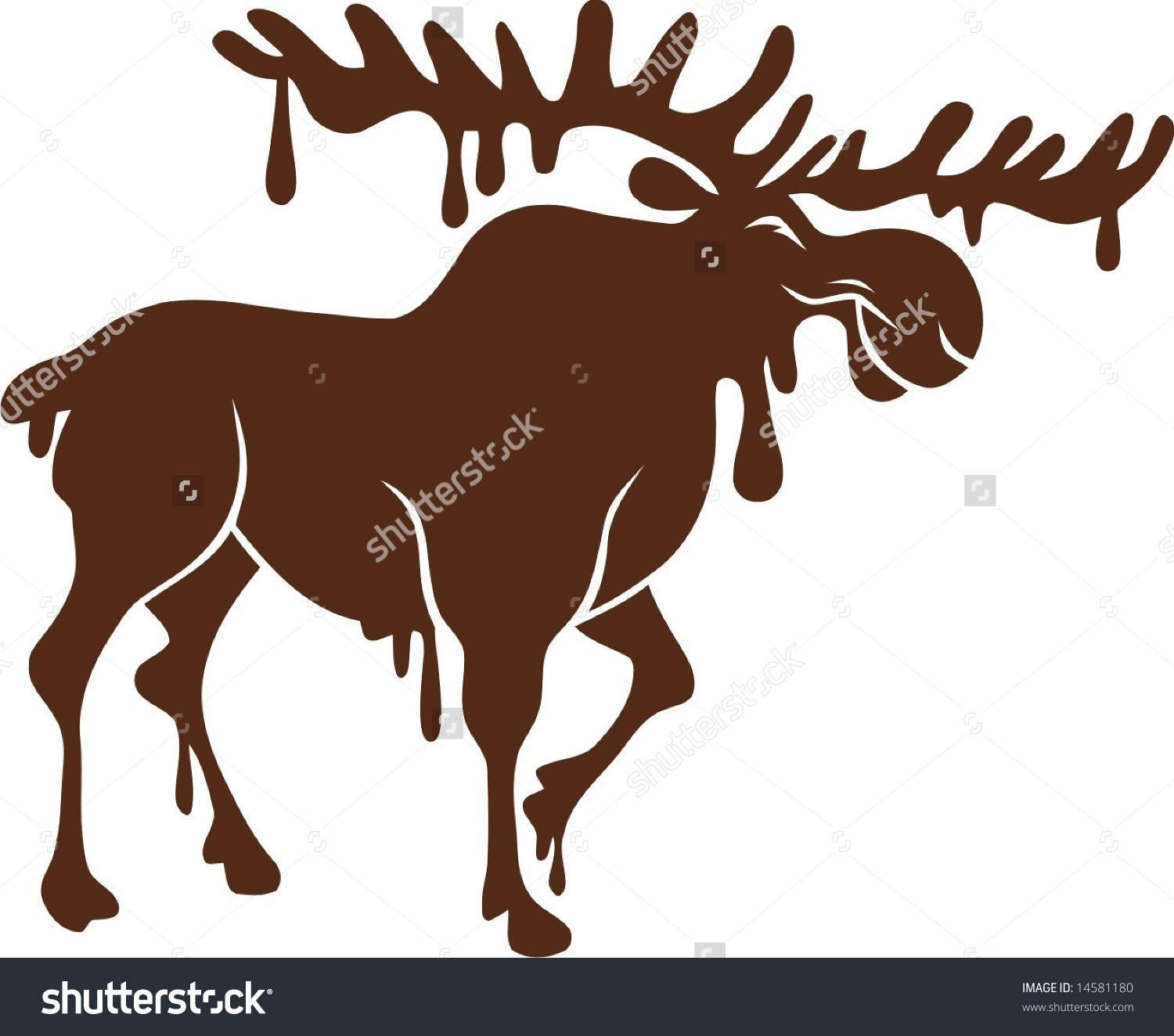 Chocolate Moose Stock Vector 14581180 - Shutterstock