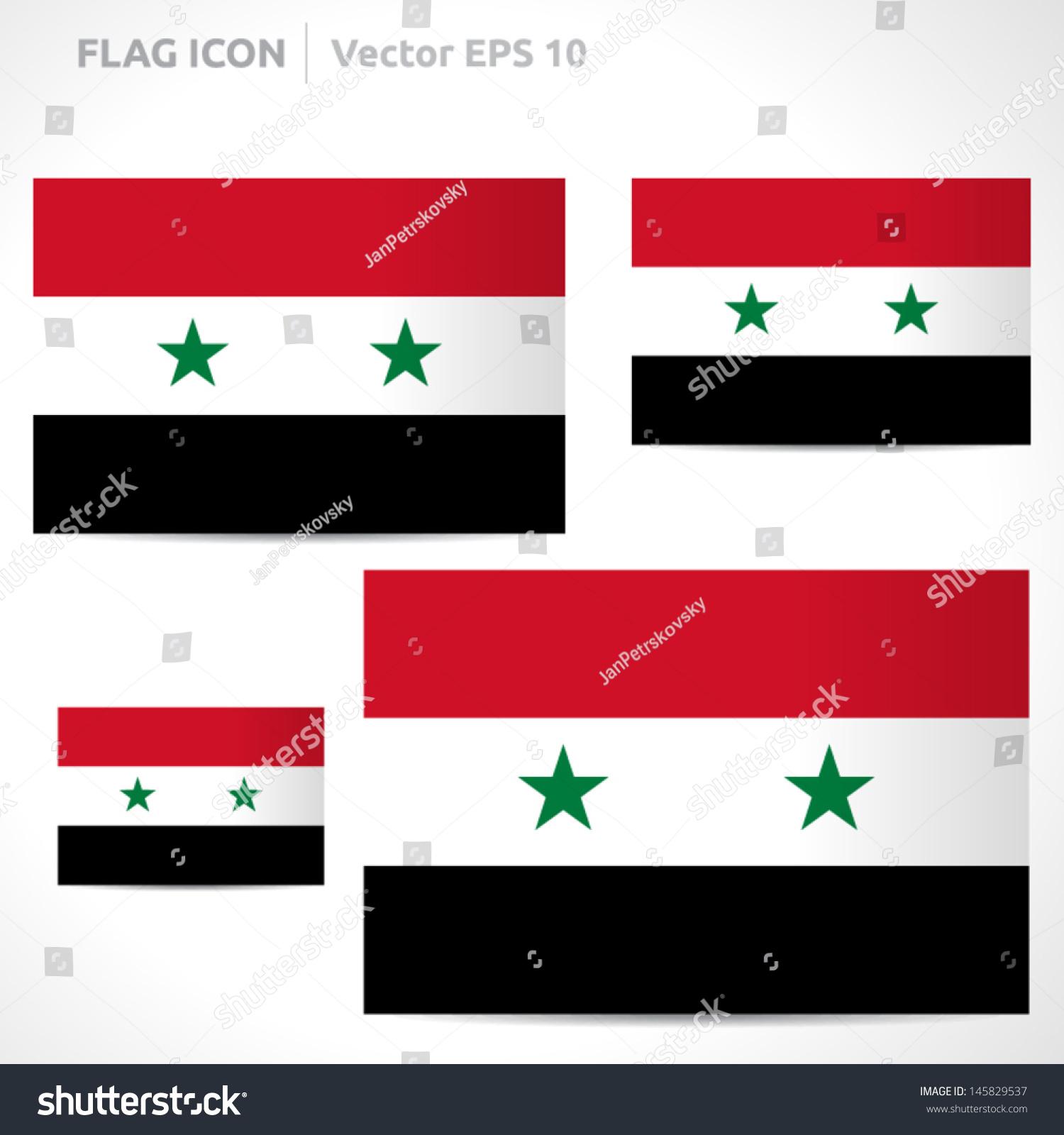 Syria Flag Template Vector Symbol Design Stock Vector Royalty Free
