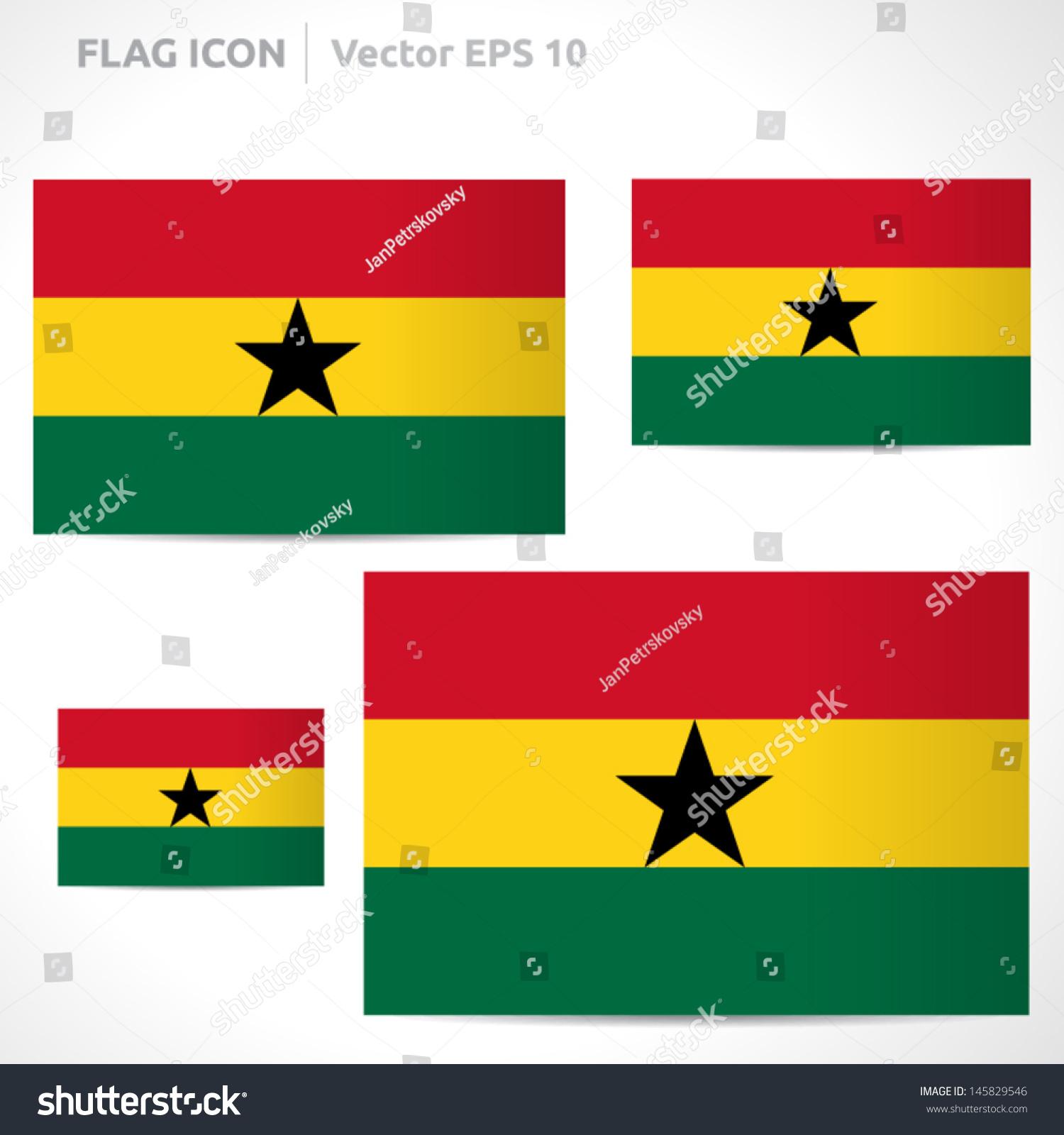 Ghana Flag Template Vector Symbol Design Stock Vector Royalty Free