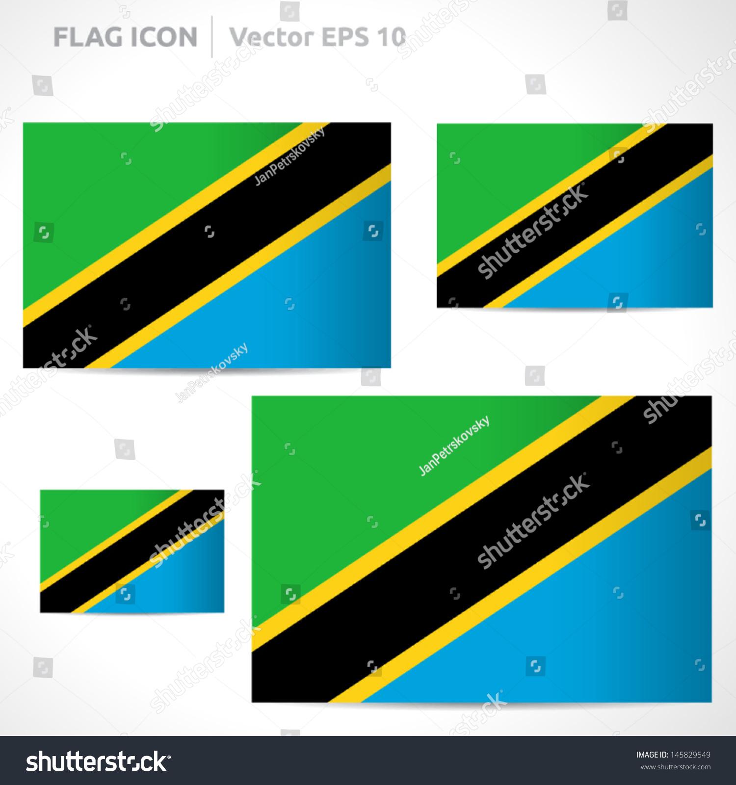 Tanzania Flag Template Vector ...