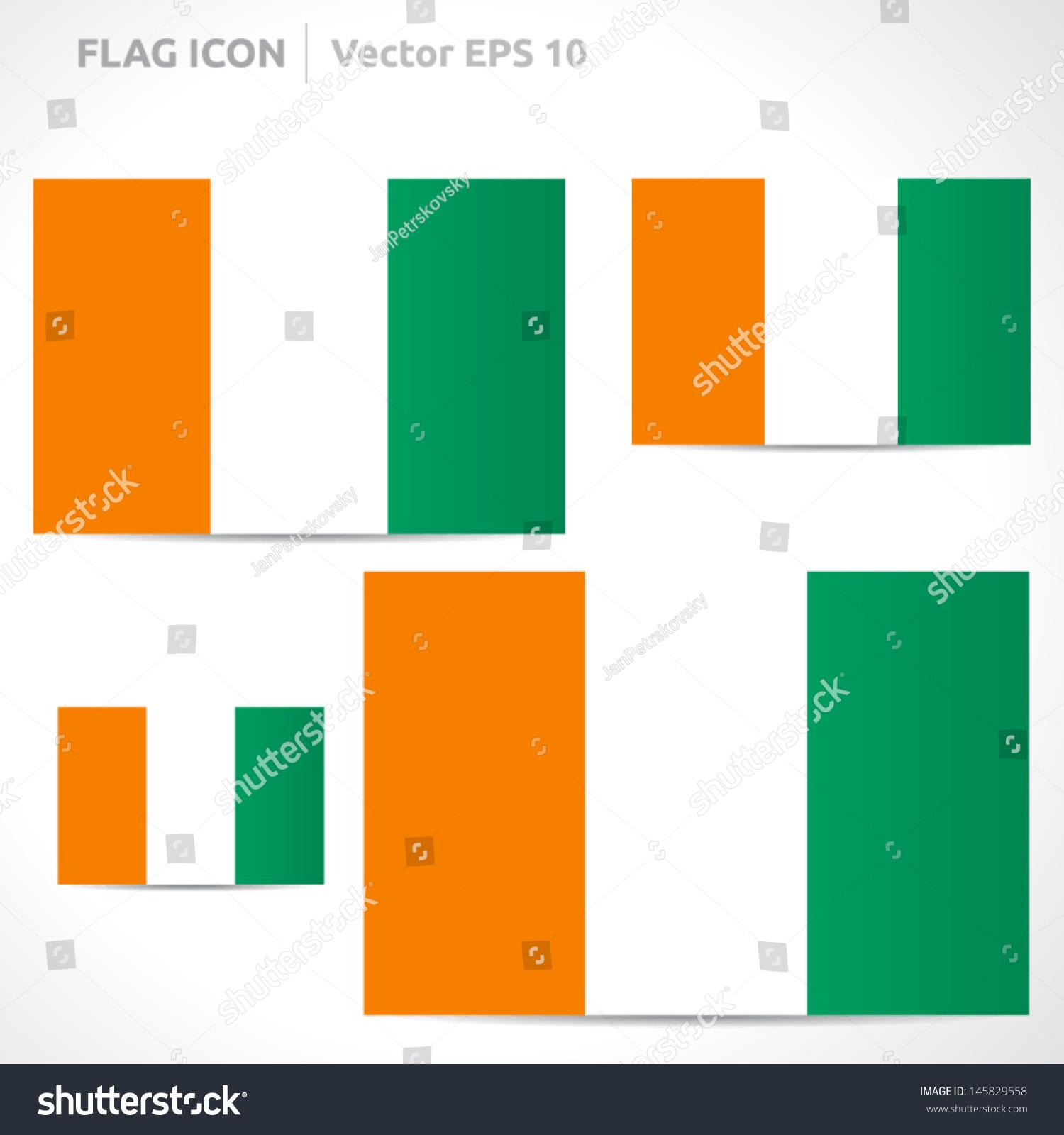Ivory Coast Flag Template